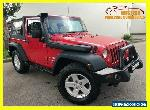 2010 Jeep Wrangler JK Sport Softtop 2dr Man 6sp 4x4 3.8i [MY10] Red Manual M for Sale